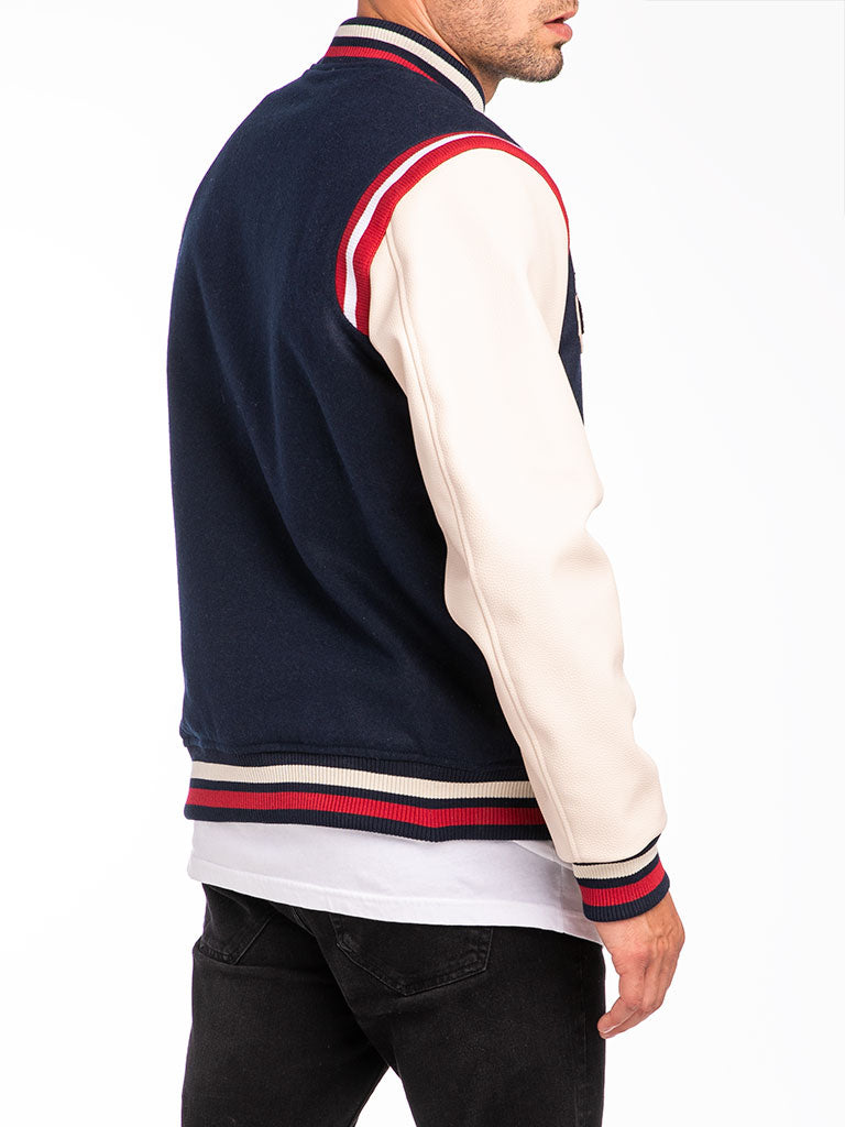 The Reason Field Varsity Jacket in Blue