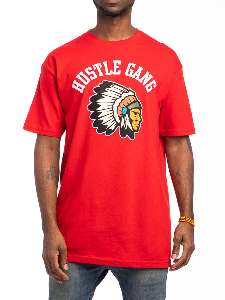 The Hustle Gang Warrior Crew Tee in Red