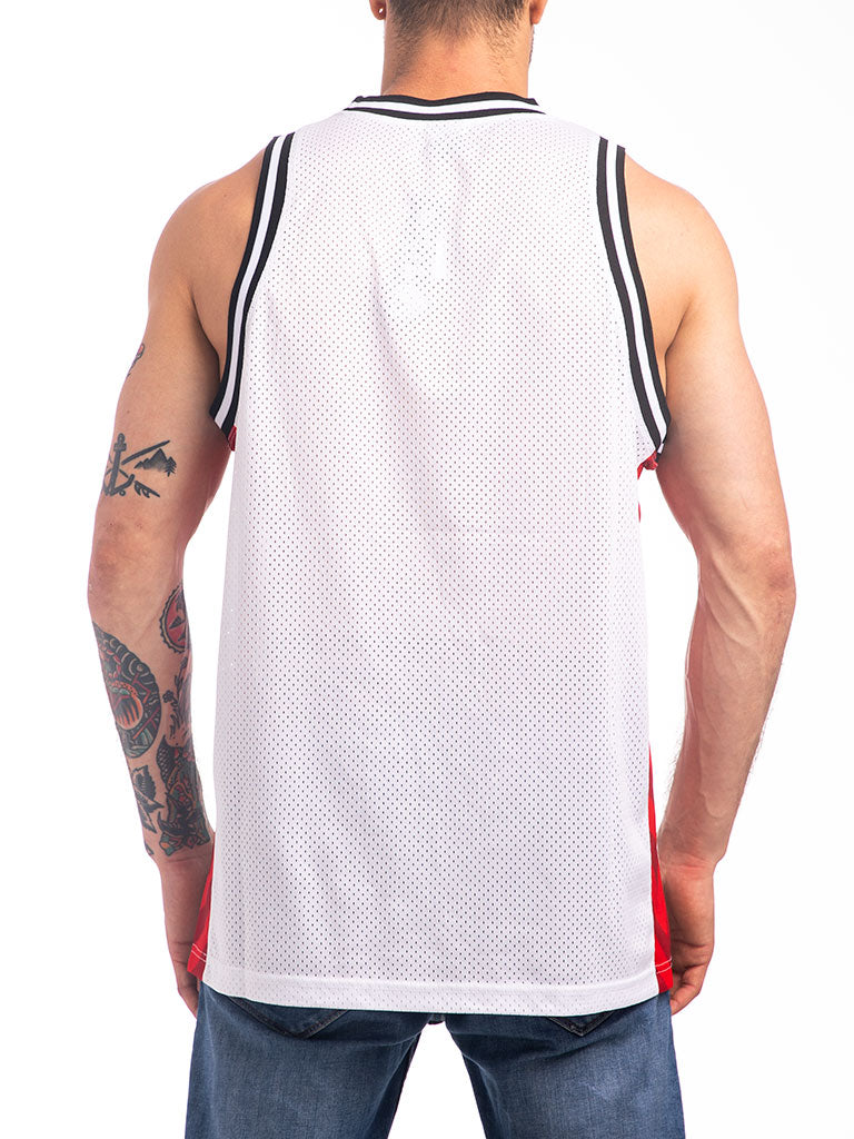 The Hustle Gang Winner Takes All Basketball Jersey in White