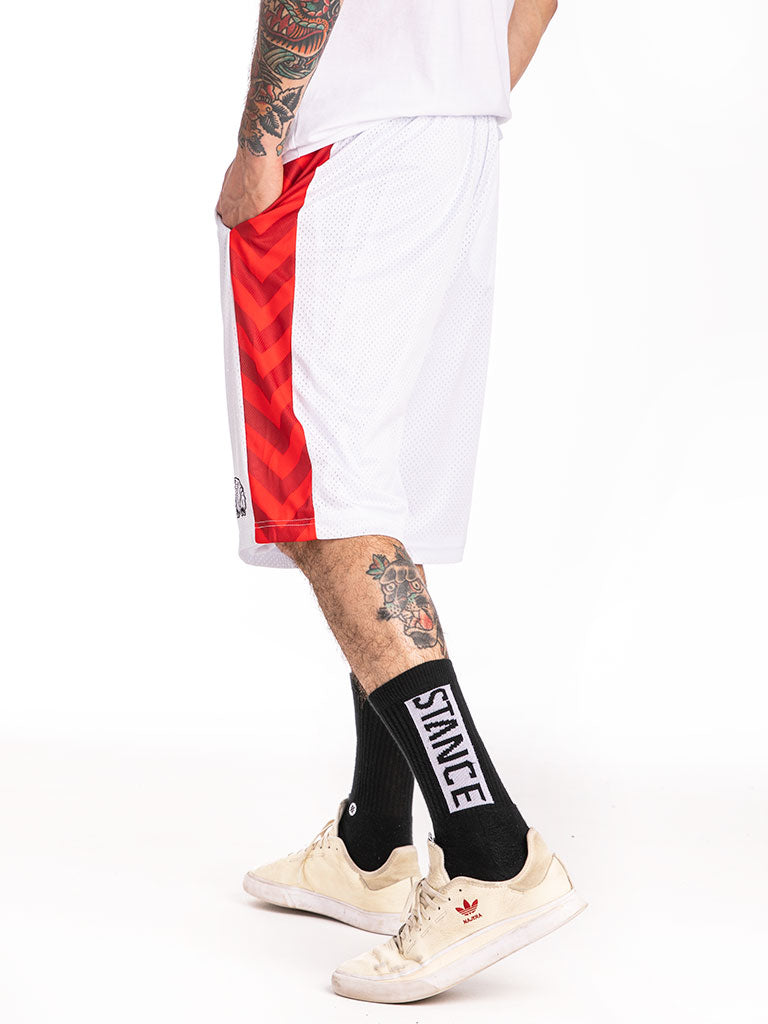 The Hustle Gang Winner Takes All Basketball Shorts in White