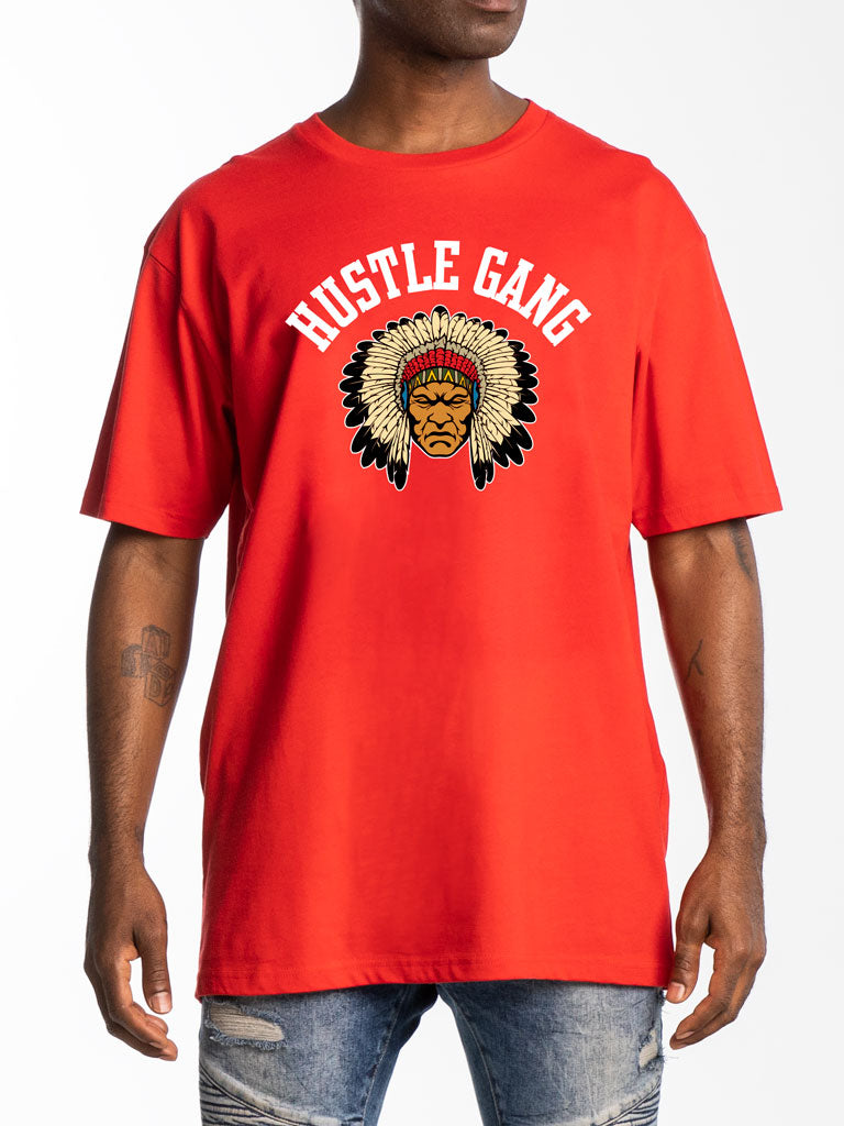 The Hustle Gang Old Head S/S Tee in Red