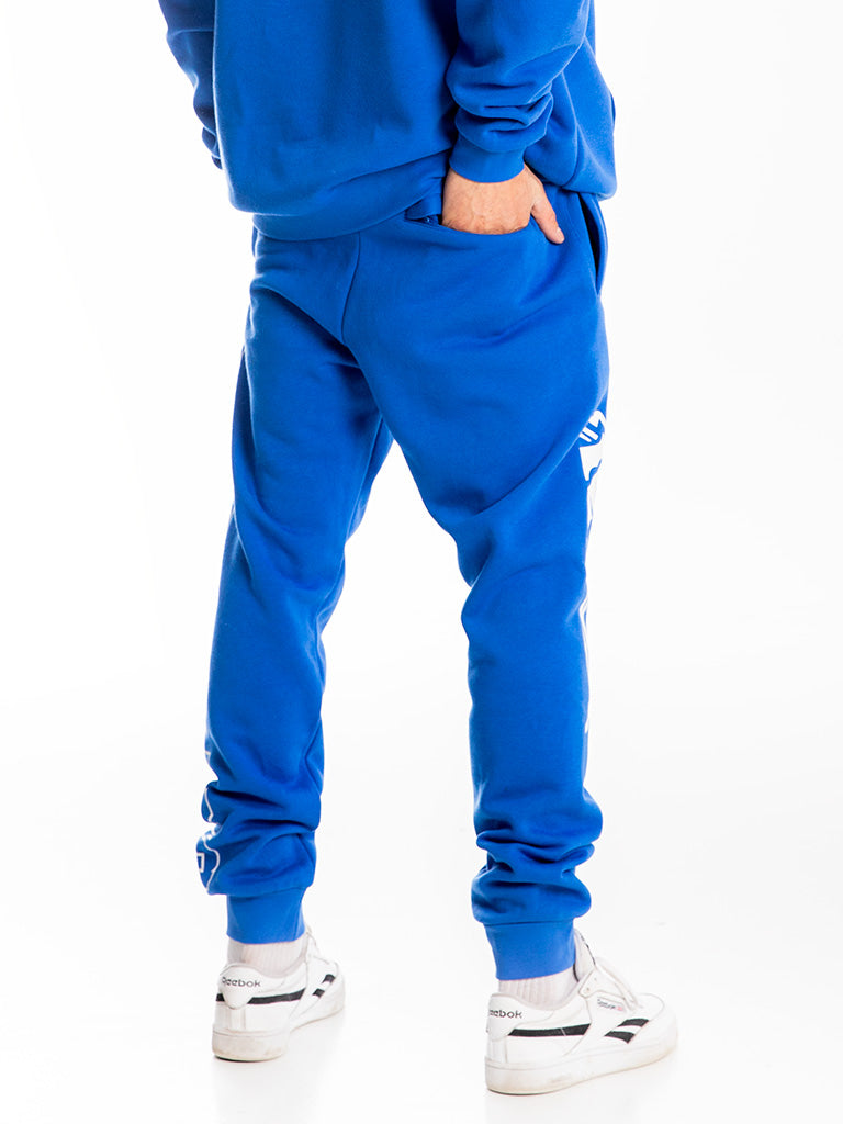The Hustle Gang Collegiate Sweatpants in Strong Blue