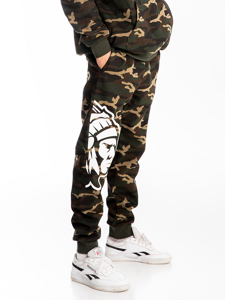 The Hustle Gang Dolman Collegiate Pullover Hoodie in Camo