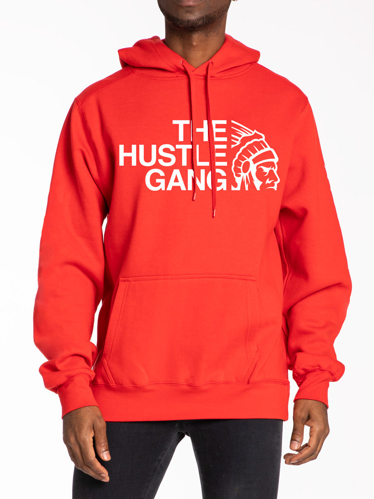 The Hustle Gang Pullover Hoodie in Red