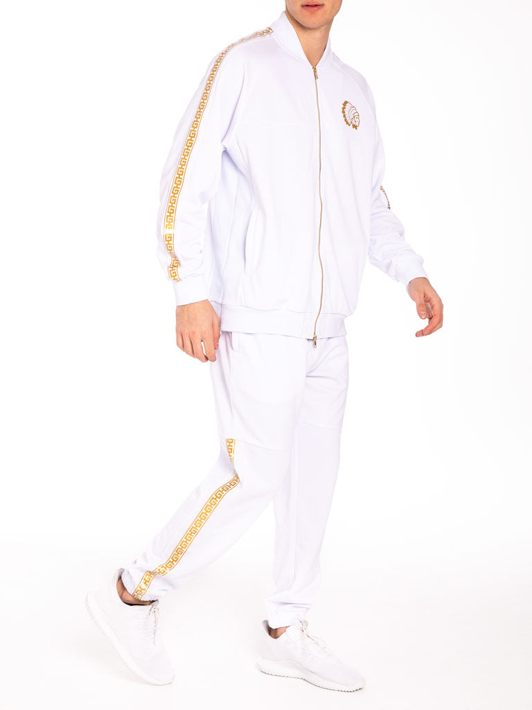 The Hustle Gang Illustrious Track Pants in White