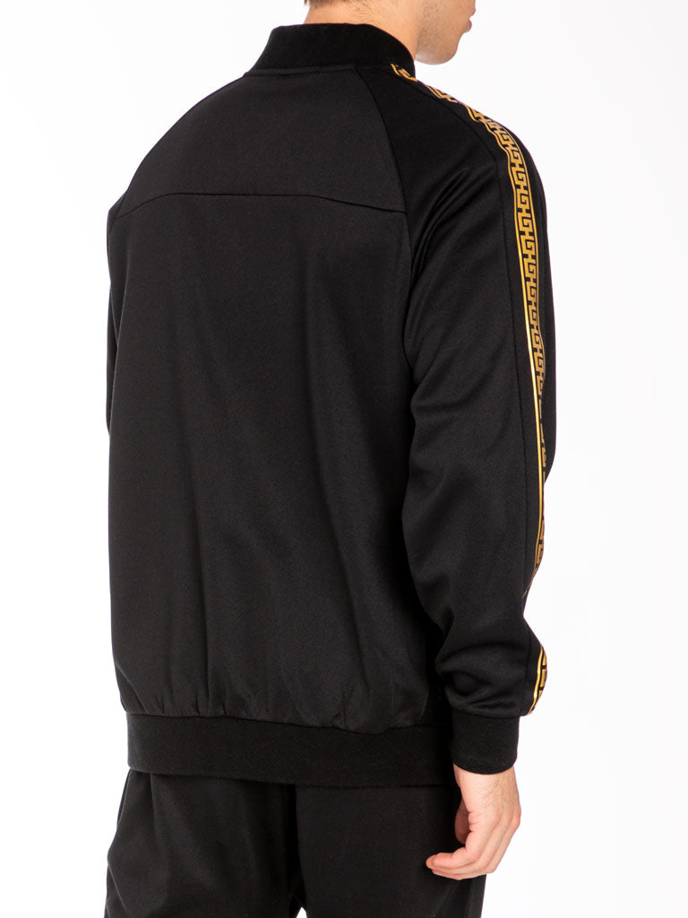 The Hustle Gang Illustrious Track Jacket in Black