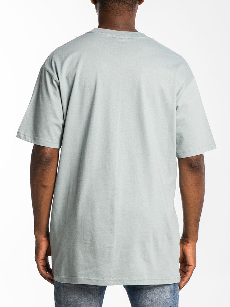 The Hustle Gang Tri-Color Crew Tee in Sage