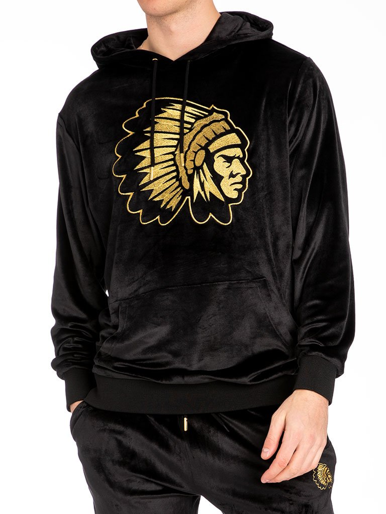 The Hustle Gang Mansion Pullover in Black