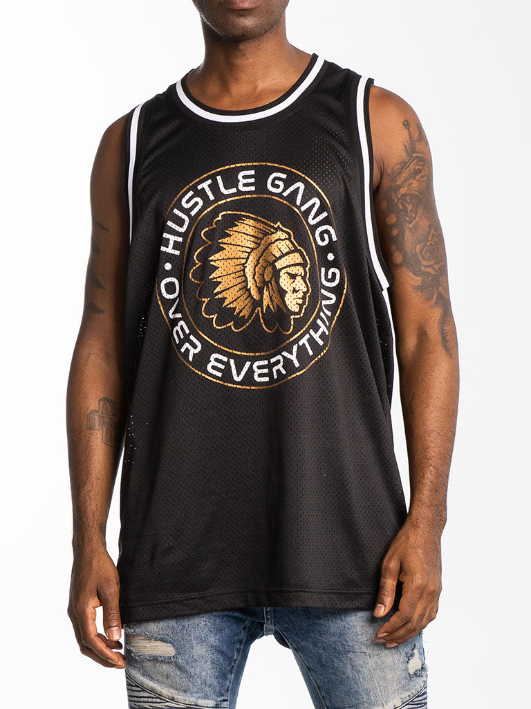 The Hustle Gang Sealed Basketball Jersey in Black