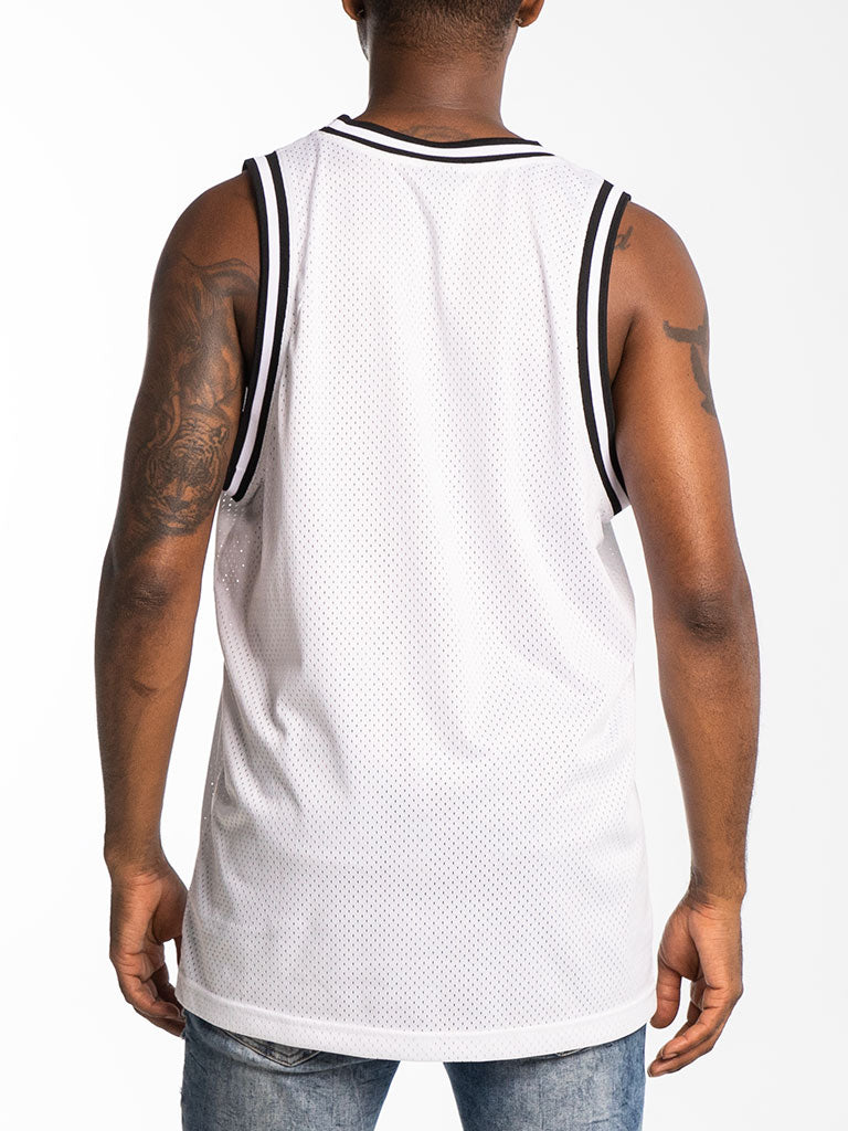 The Hustle Gang Sealed Basketball Jersey in White