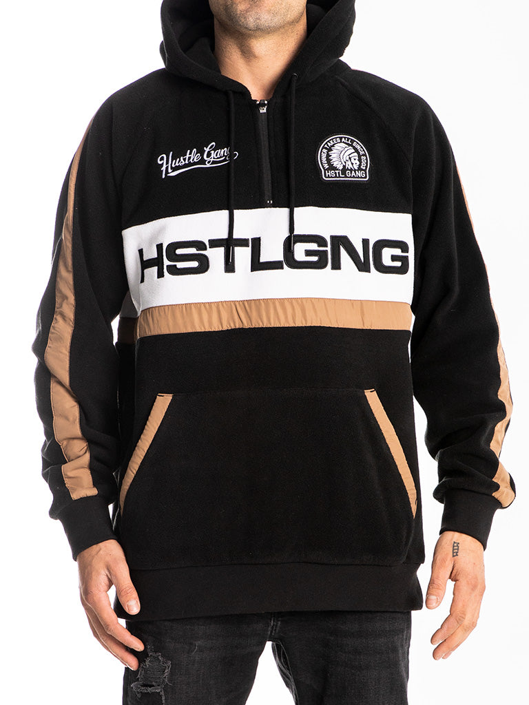 The Hustle Gang GNG Pullover Hoodie in Black
