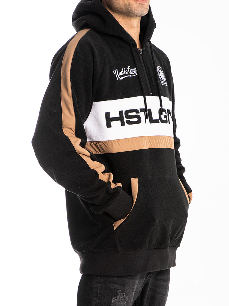The Hustle Gang GNG Polar Fleece Pullover Hoodie in Black