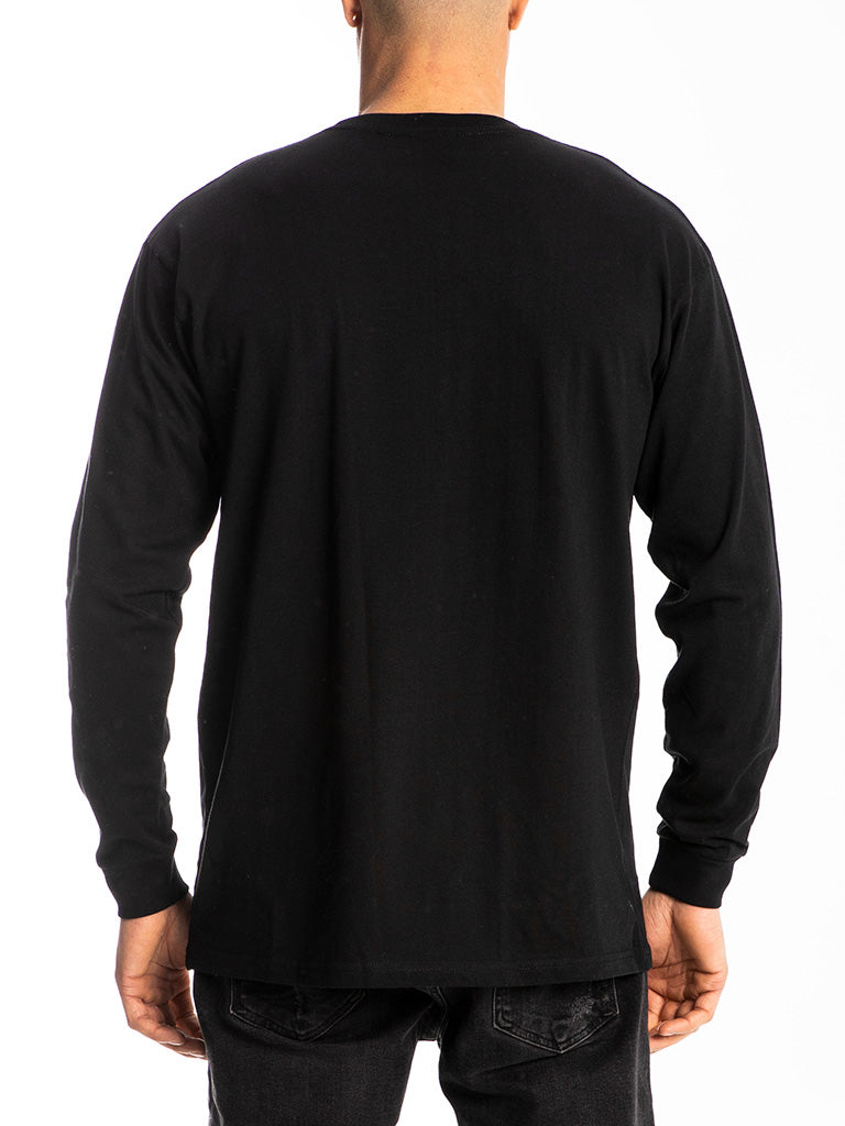 The Hustle Gang Down To Fight L/S Crew Tee in Black