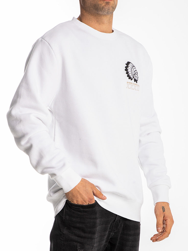 The Hustle Gang Wild Boys Crew Sweatshirt in White
