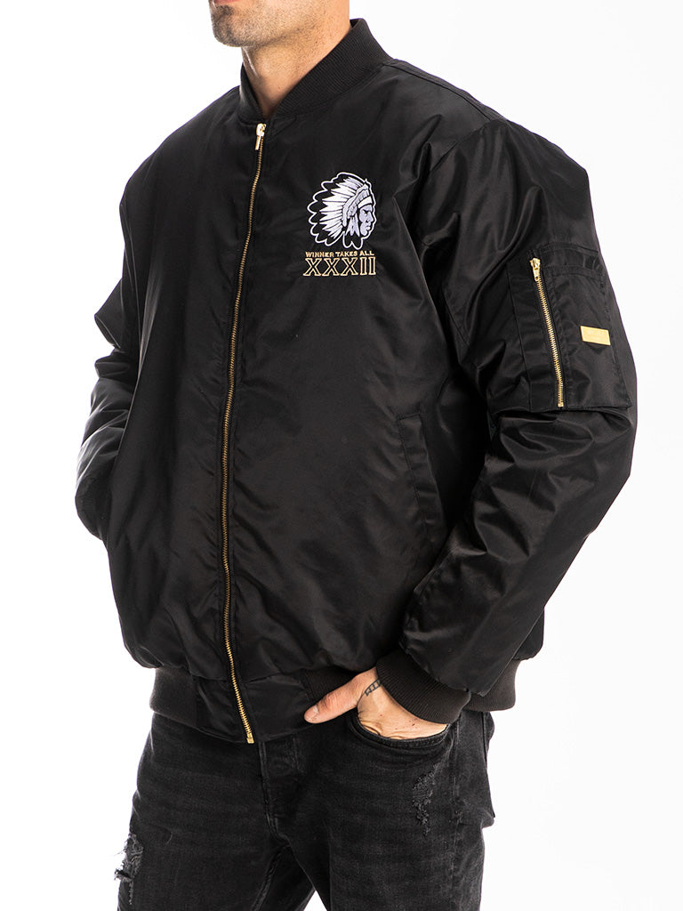 The Hustle Gang Wild Boys Bomber Jacket in Black
