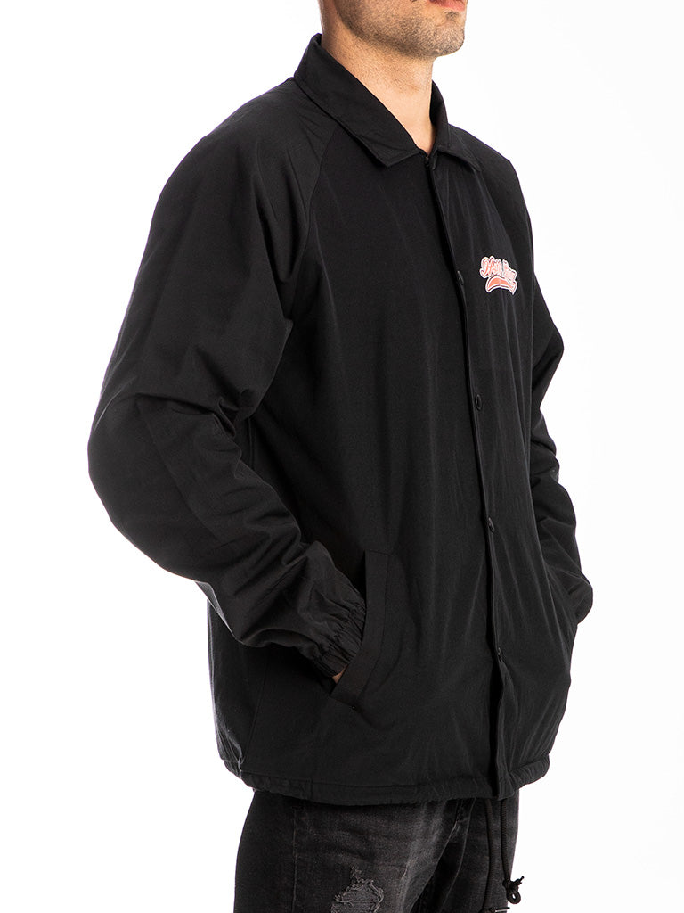 The Hustle Gang Down To Fight Coach Jacket in Black