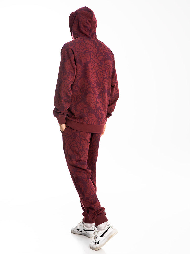The Hustle Gang Prominent Sweatpants in Burgundy