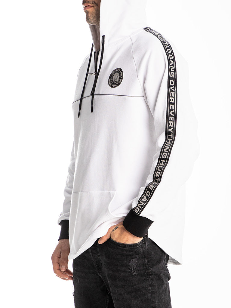 The Hustle Gang 3M Scoop Pullover Hoodie in White
