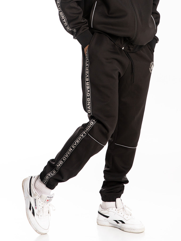 The Hustle Gang 3M Track Pants in Black