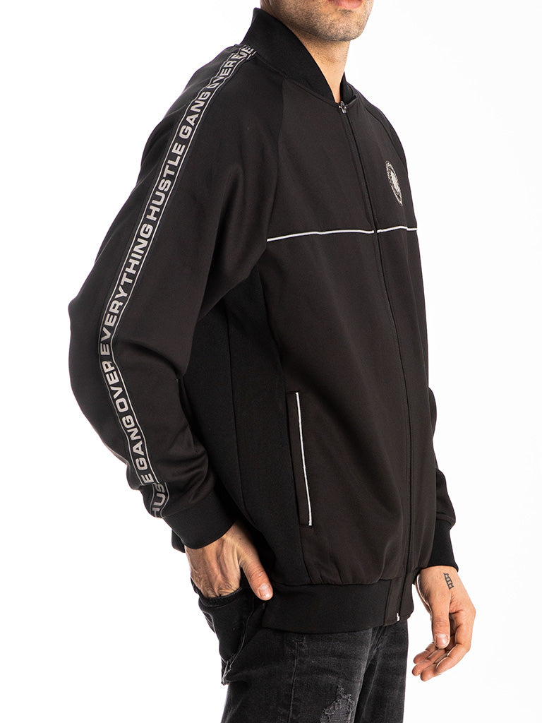 The Hustle Gang 3M Track Jacket in Black