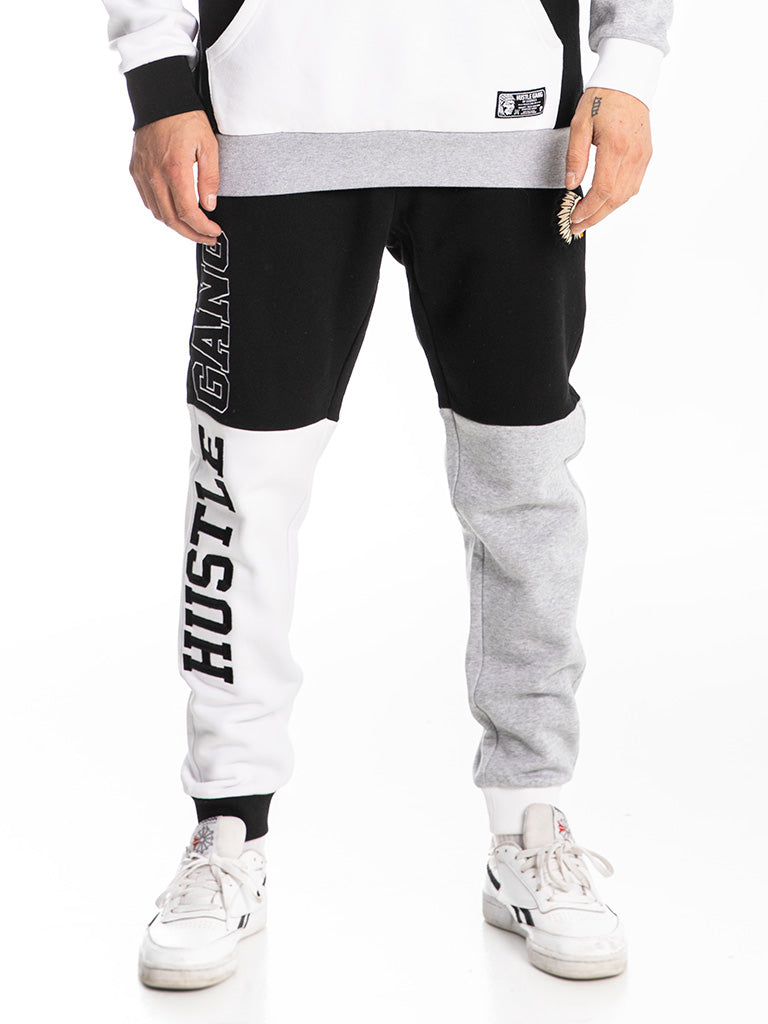 The Hustle Gang Tri-Color Sweatpants in Black Multi