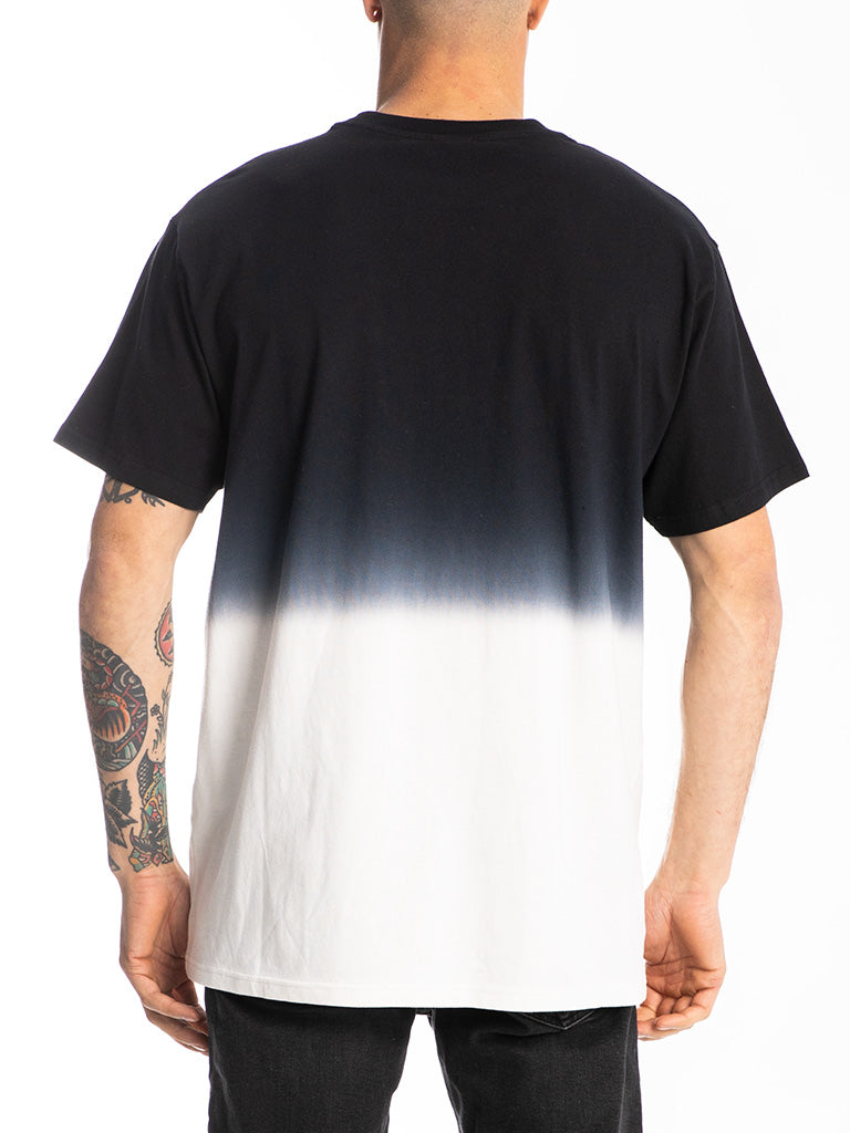 The Hustle Gang Dip Dyed Crew Tee in Black Multi