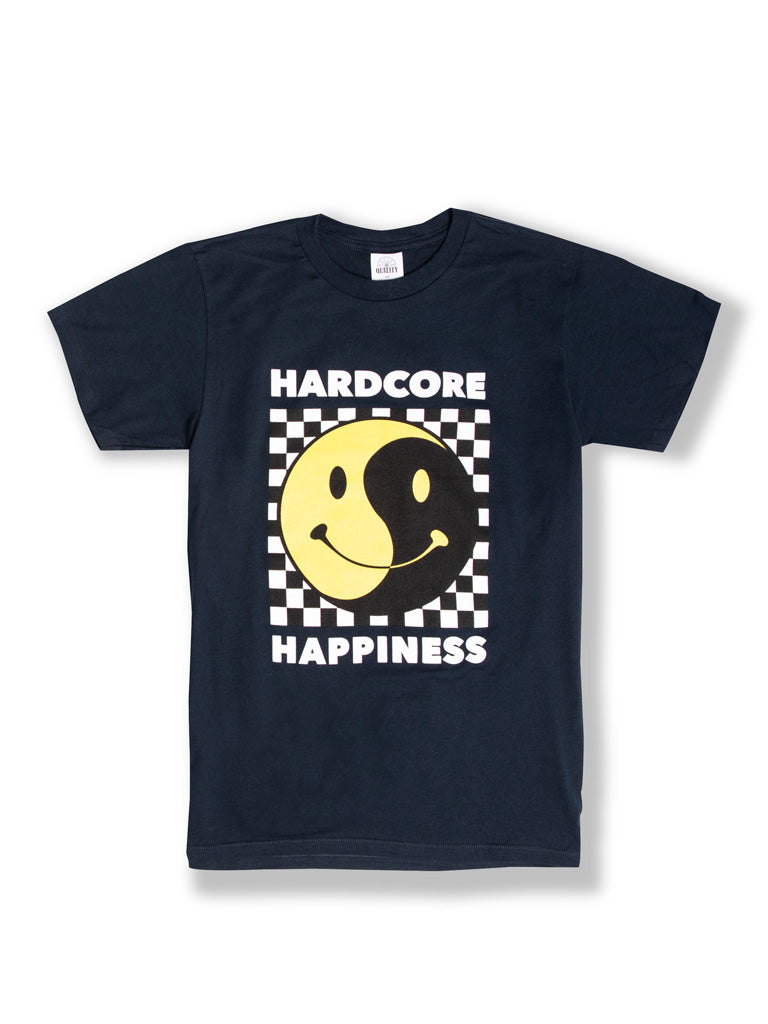 The Whatever Forever Hardcore Happiness Crew Tee in Navy