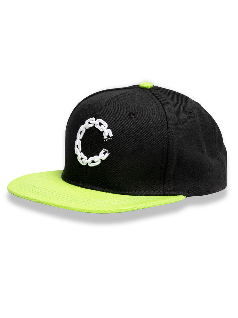 The Crooks And Castles Chain C Fitted Cap in Black