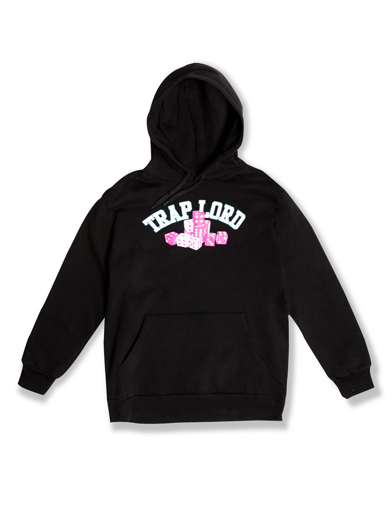 The TL Roll The Dice Pullover Hoodie in Black