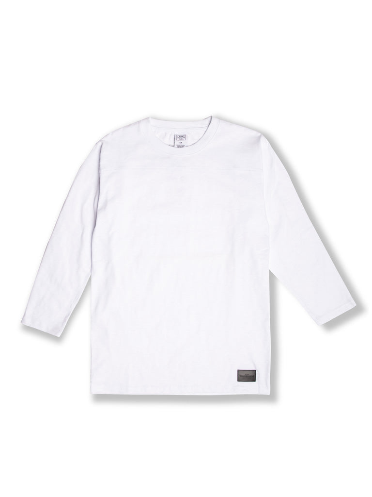The Crooks and Castles Walsh Basic L/S Football Tee in White
