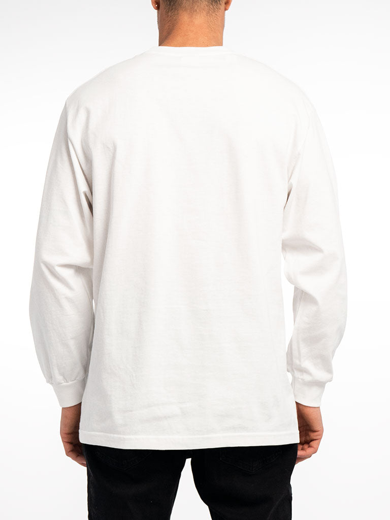 The Metal Mulisha Full Metal L/S Crew Tee in White