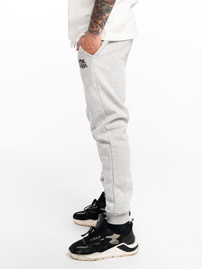 The Metal Mulisha Corpo Logo Sweatpants in Heather Grey