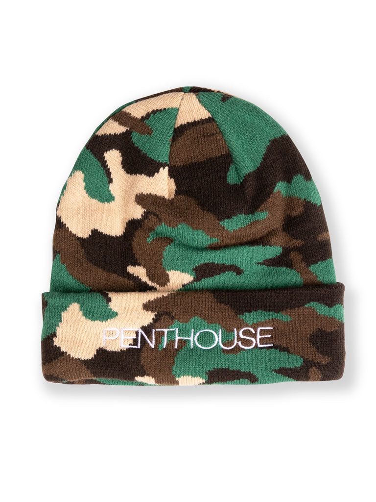 The Marries To The Mob Ladies Woven Beanie in Camo