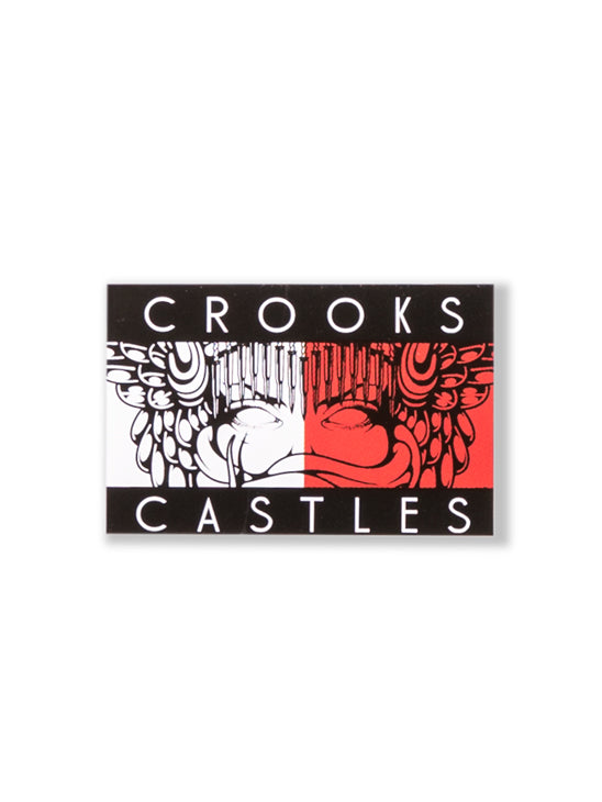 The Crooks and Castles Figuh Sticker in Multi