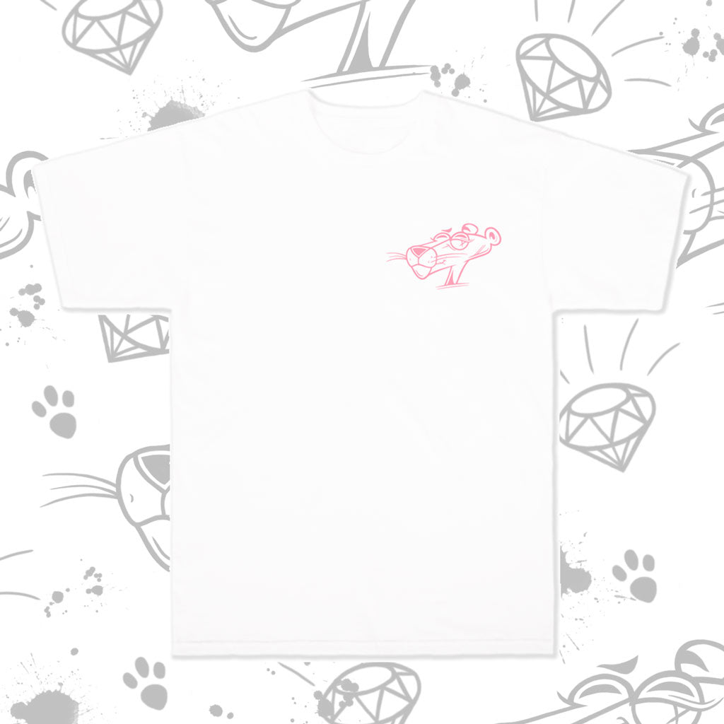 pink panther tee in white - valentine's day exclusive