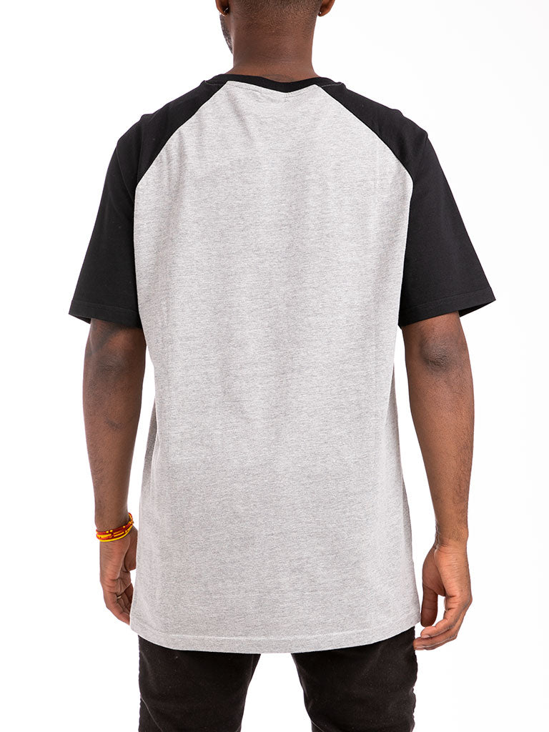 The 24 Blank Premium Raglan Top in Heather Grey/Black