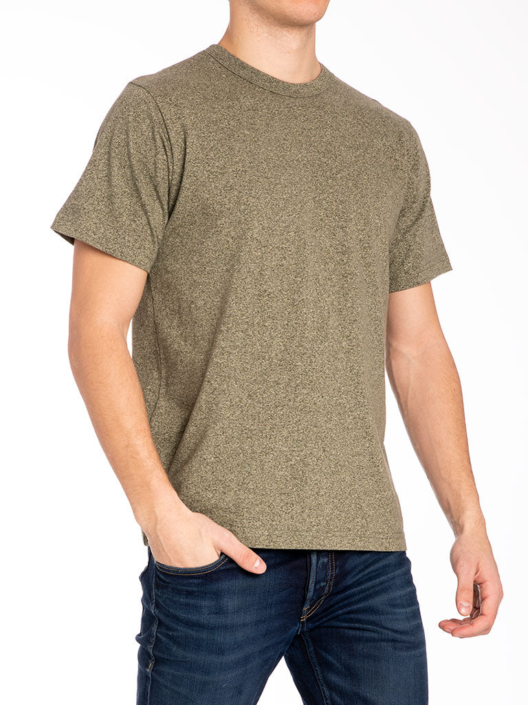 The 24 Blank Knit T-shirt in Olive