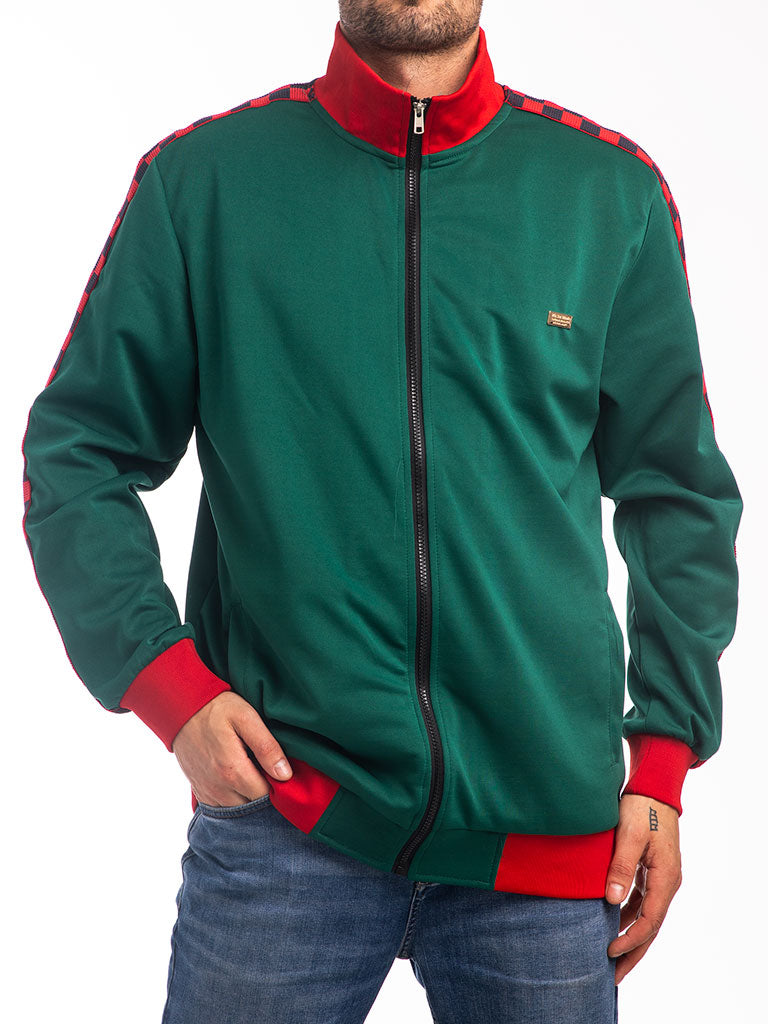 The Reason Gennaro Track Jacket in Green