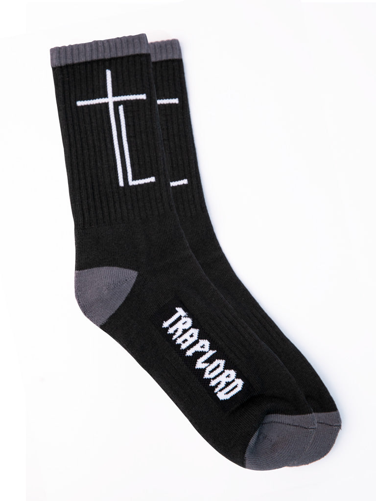 The Trap Lord Socks in Black