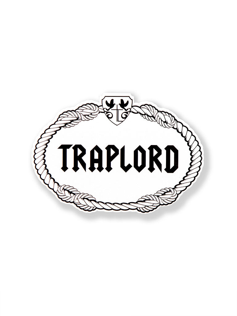 THE TRAP LORD CREST STICKER IN WHITE