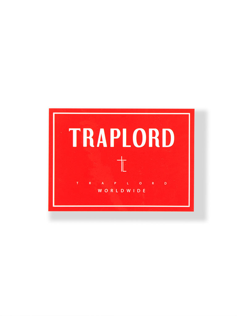 THE TRAP LORD TL STICKER IN RED