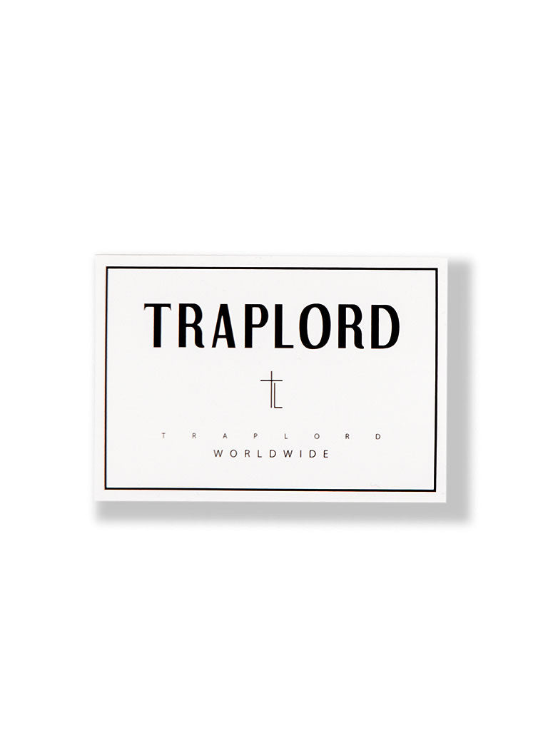 THE TRAP LORD TL STICKER IN WHITE