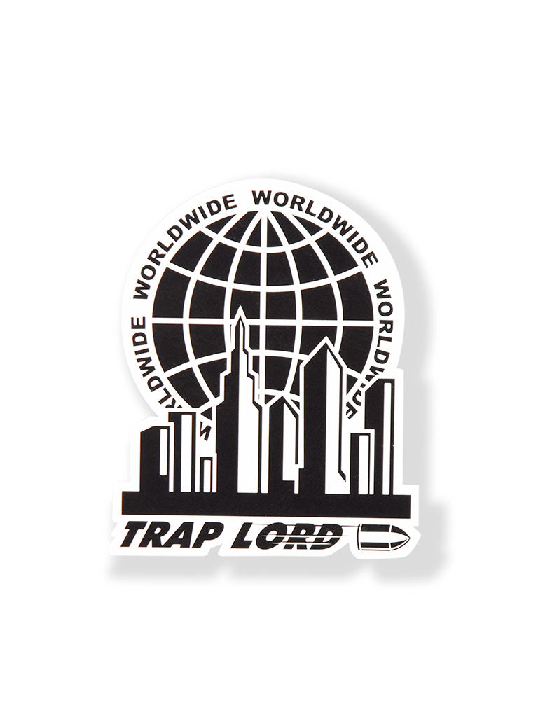 THE TRAP LORD WORLDWIDE STICKER IN BLACK