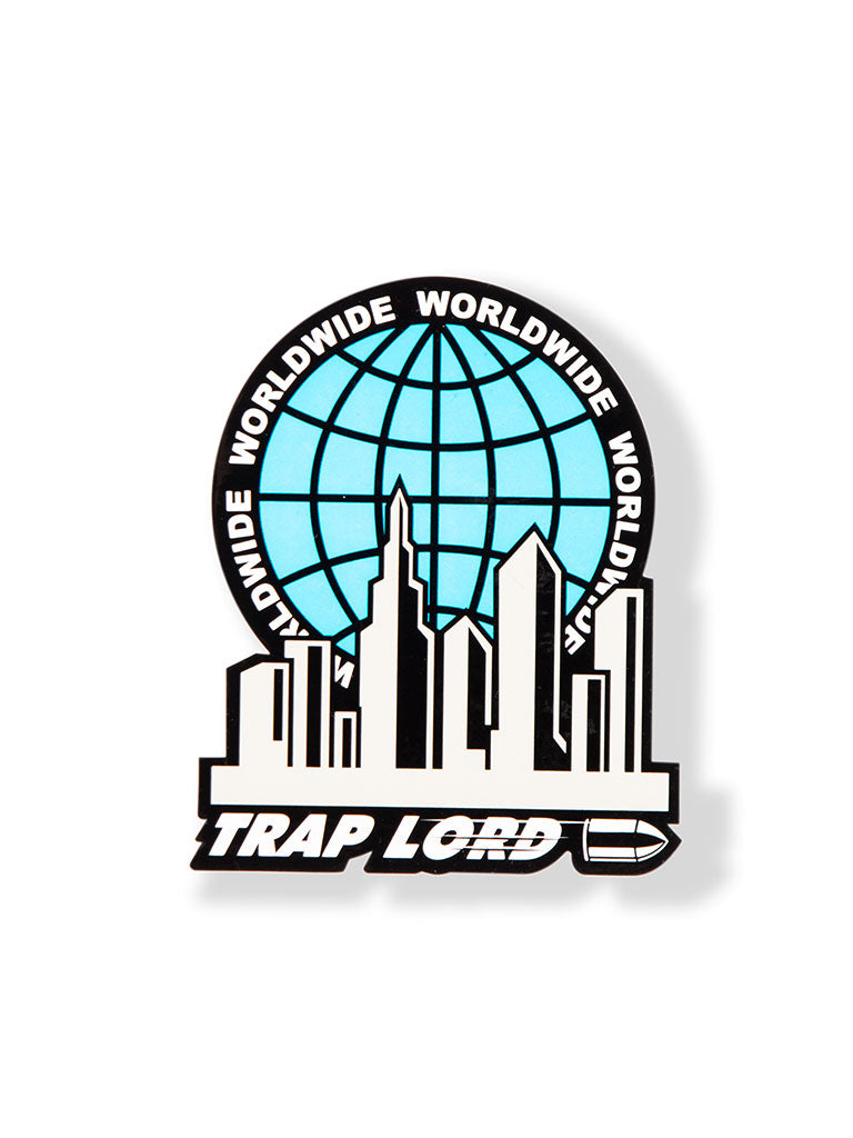 THE TRAP LORD WORLDWIDE STICKER IN ROYAL