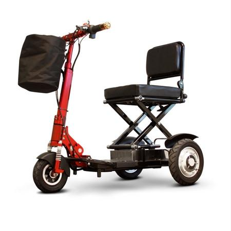 EWheels EW-01 Speedy Portable Folding Scooter, 300 lb Capacity, 11 mph - Reliving Mobility