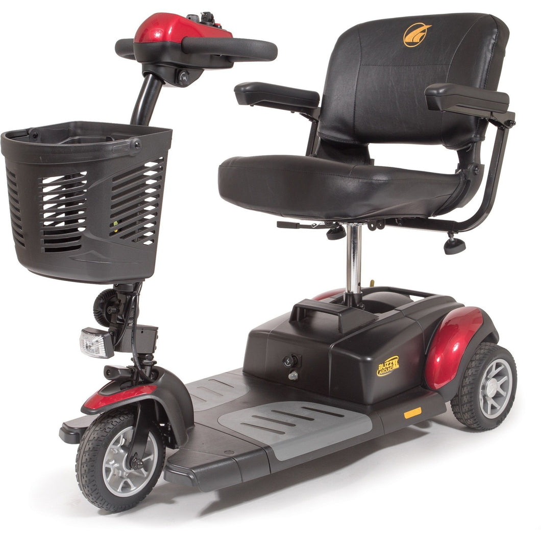Golden Buzzaround XL Portable 3 Wheel Scooter GB117D, 300 lb Capacity - Reliving Mobility