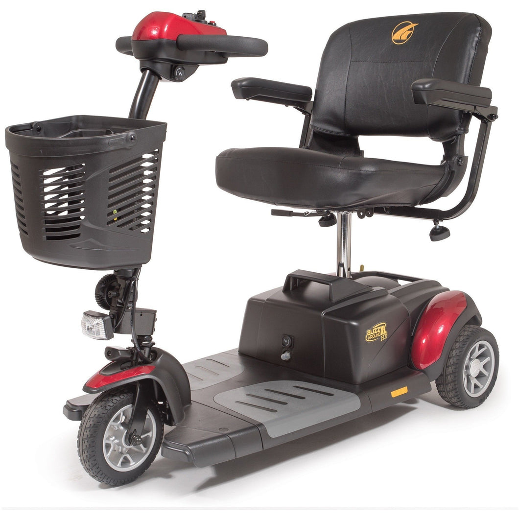 Golden Buzzaround XLHD Portable 3 Wheel Scooter GB117H, 325 lbs - Reliving Mobility