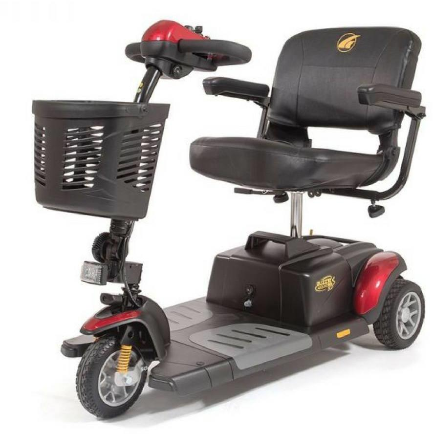 Golden Buzzaround LX3 Travel 3 Wheel Scooter GB119, 375 lb Capacity - Reliving Mobility