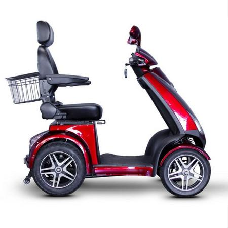 EWheels EW-72 Heavy Duty 4 Wheel Scooter, 500 lb Capacity, 15 mph - Reliving Mobility