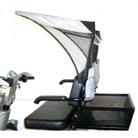 EV Rider (DST-C3420-D) Soft Type Dual Seat Canopy - Reliving Mobility